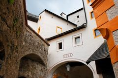 Towers and walls of Hohensalzburg castle Royalty Free Stock Image