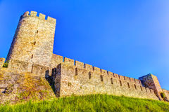 Towers and walls of Kalemegdan HDR image Stock Image