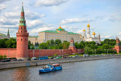 The towers and walls of Kremlin. Moscow Stock Photography