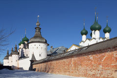 The towers and walls of the Kremlin of Rostov the Royalty Free Stock Photography