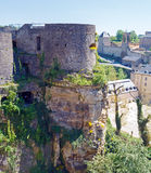 Towers and Walls of Luxembourg City Castle Royalty Free Stock Images
