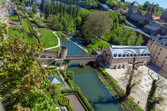 Towers and Walls of Luxembourg City Castle Royalty Free Stock Photos