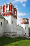 Towers and walls of Novodevichy Convent, Moscow Stock Images