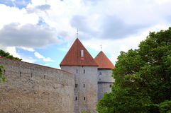 Towers and walls of old city. Royalty Free Stock Photography