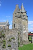 Vitre Castle, France. Towers and walls of Vitre Castle, France Stock Photos