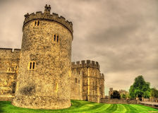 Towers of Windsor Castle near London Stock Image