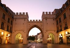 Free Towers With Arches In Street  European City In Eve Stock Photo - 6201300