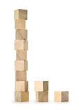Towers from wooden cubes Stock Photography