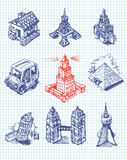 Towers of the world vector illustration