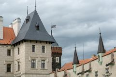 Towers of Zleby chateau stock image