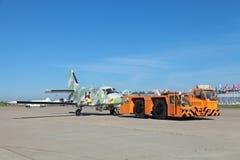 Towing aircraft Stock Photos