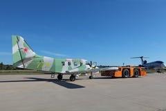 Towing aircraft Stock Photo