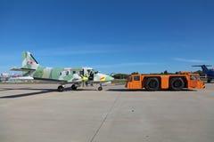 Towing aircraft Royalty Free Stock Photo