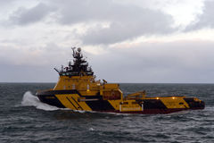 27.12.2014 – Towing of Byford Dolphin. Royalty Free Stock Image