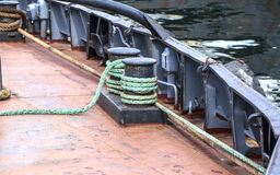 Towing cable on a vessel Stock Image