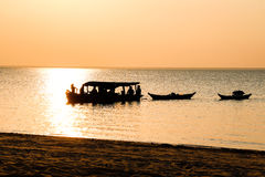 Free Towing Canoe Stock Image - 86131461