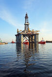 Towing platform in port Stock Photo