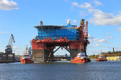 Towing platform in port Stock Photography