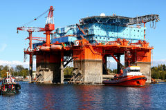 Towing platform in port Royalty Free Stock Photography