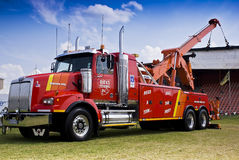 Towing and Recovery Vehicle, with Hoist Crane stock image