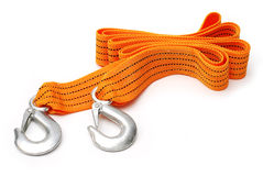 Towing rope. Isolated on a white background royalty free stock photos