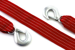 Towing rope. With hooks isolated royalty free stock image