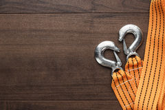 Towing rope on the table stock photo