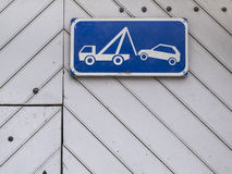 Towing sign Stock Image
