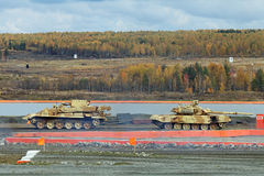 The towing tank. NIZHNY TAGIL, RUSSIA - SEP 26, 2013: The international exhibition of armament, military equipment and ammunition RUSSIA ARMS EXPO (RAE-2013) Stock Photo