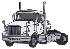 Towing truck. Big american towing truck, vector illustration, hand drawing Royalty Free Illustration