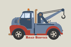 Towing truck road service Royalty Free Stock Images