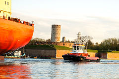 The towing vessel Royalty Free Stock Images