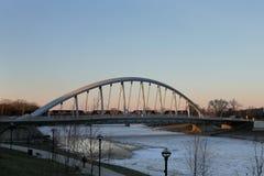Towm街桥梁在哥伦布,俄亥俄 库存照片