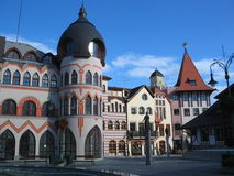 Town. The Komarno town and its houses - Slovakia Royalty Free Stock Photography