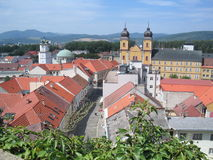 Town. The Trencin town - Slovakia; Europe Stock Photo