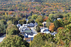 Town. Autumn in Port Jervis, Upstate New York Stock Images