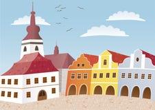 town Arkivbild