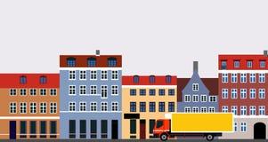 town Royaltyfri Bild
