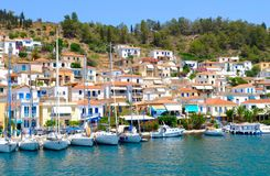 Town. Small town on the island, Greece Stock Photo