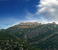 The town. A greek town in the top of a mountain Royalty Free Stock Photos
