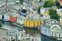 Town of Aalesund Stock Images