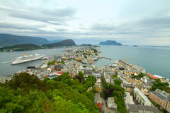 Town of Aalesund Royalty Free Stock Photo