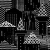 Town. Abstract architectural background. Stock Photo