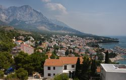 Town on the Adriatic coast of Croatia Royalty Free Stock Photography