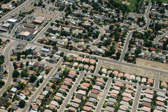 Town aerial photograph Royalty Free Stock Images