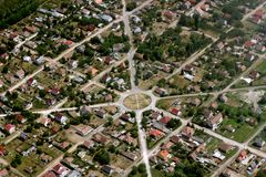 Town from the air Stock Photography