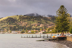 Town of Akaroa, New Zealand Royalty Free Stock Image