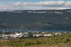 Akureyri in Iceland. Town of Akureyri in Iceland Stock Image