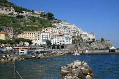AMALFI, ITALY. Town of Amalfi in Salerno, in the region of Campania, southwestern Italy Royalty Free Stock Photography