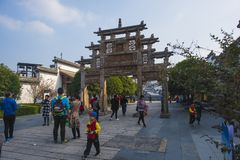 Wuhu kuizi ancient town. The town is an ancient town in wuhu, anhui province, China. It is a small town that combines tourism and business stock image